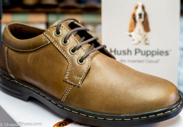 Hush Puppies Mens soft brown leather laced shoe